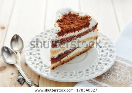 White chocolate cake  - stock photo