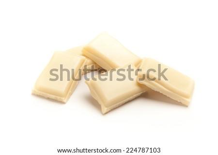 White Chocolate Set - stock photo