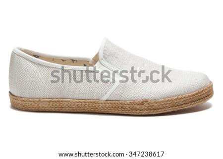 White classic sneakers - stock photo