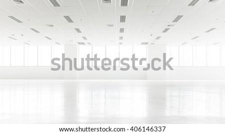 White clean empty room - stock photo