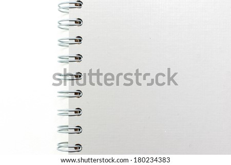 White clean note book isolated. - stock photo