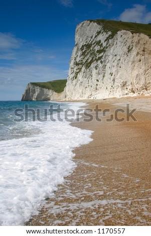 white cliffs - stock photo