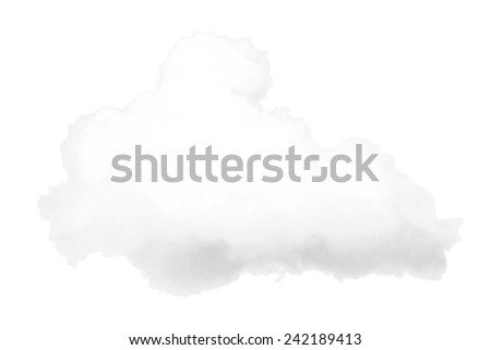 White cloud isolated on the white background - stock photo