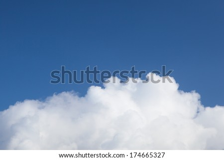 white cloud on blue sky background - stock photo