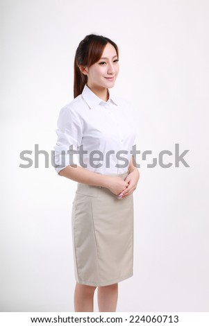 White collar Gesture - stock photo