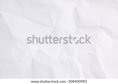 White color tone crumpled paper edge for background:ragged carton in bright backdrop:art pattern parchment conception:recycle and reuse:square and rectangle plain page:crinkle and wrinkle of surface. - stock photo