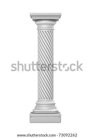 White Column - stock photo
