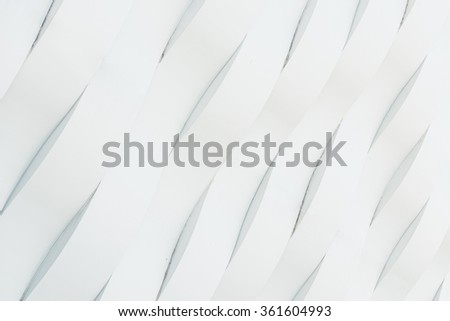 White Concrete Wall Wave Pattern Background - stock photo