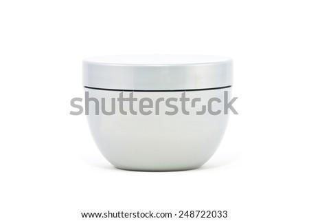 White Cosmetic packaging cream box - stock photo