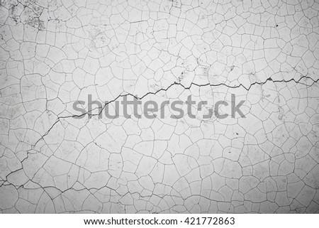 White cracked texture background. - stock photo