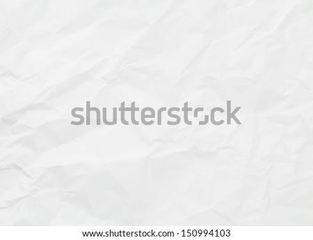 White creased paper texture - stock photo
