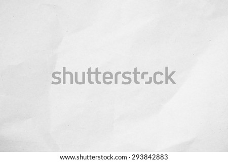White crumpled/fold paper texture background:crinkle scruffy soft light pure/clean document blank page backdrop concept:wrinkle/creased of blank space/copy-space surface wallpaper:art conception ideal - stock photo