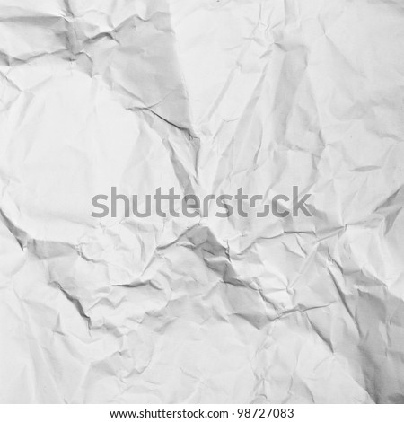 white crumpled paper texture or background - stock photo