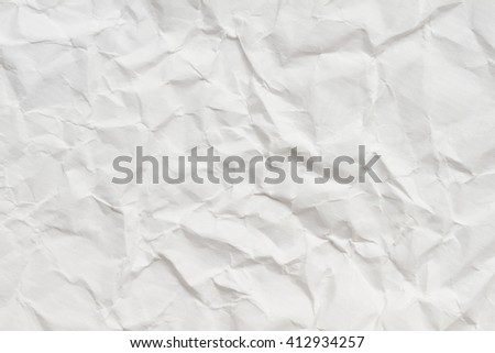White crumpled paper texture sheet of paper. - stock photo