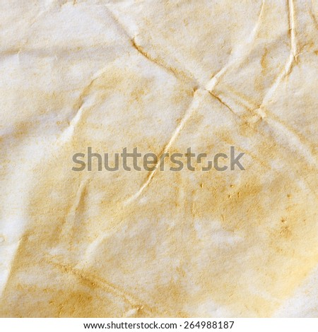 White Crumpled Stained Paper Texture or Background/ Old Paper - stock photo