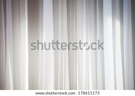 white curtain - stock photo