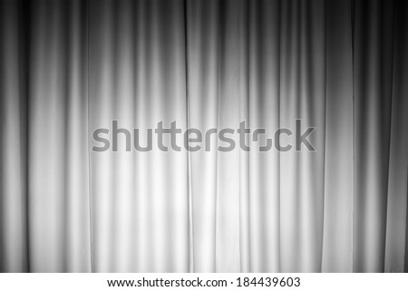 White curtain photo background with spotlight on it - stock photo