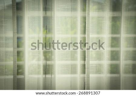 White curtains - stock photo