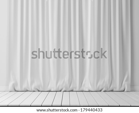 white curtains background - stock photo