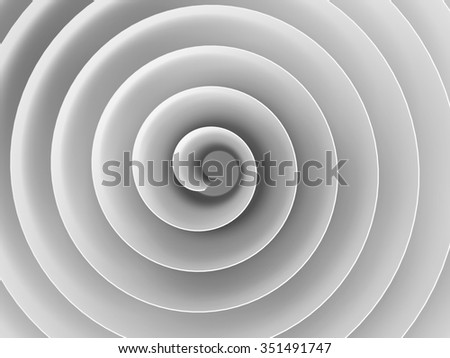 White 3d spiral with soft shadows, abstract digital illustration, background pattern - stock photo