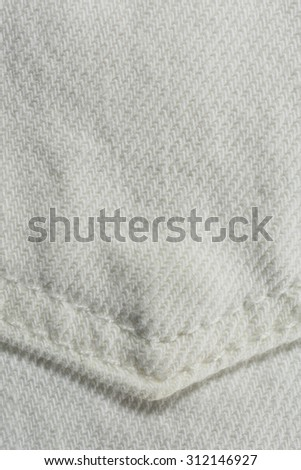 White Denim Background Vertical Photograph - stock photo