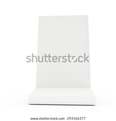 White desk display for your model - stock photo