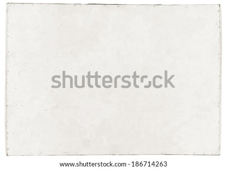 white dirty plywood isolated on white background - stock photo