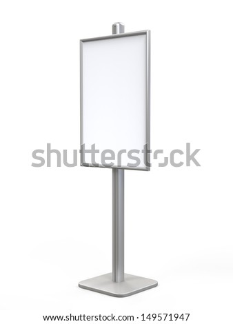 White Display Advertising Stand - stock photo