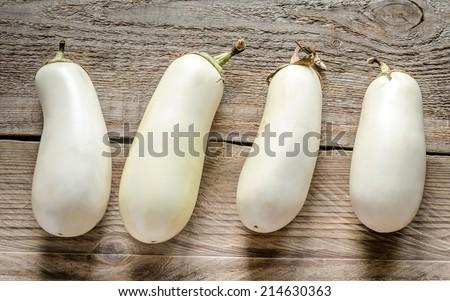 white eggplants - stock photo