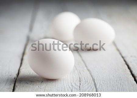 White eggs - stock photo