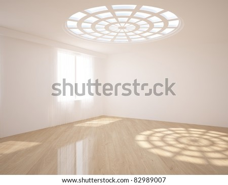 white empty room - stock photo