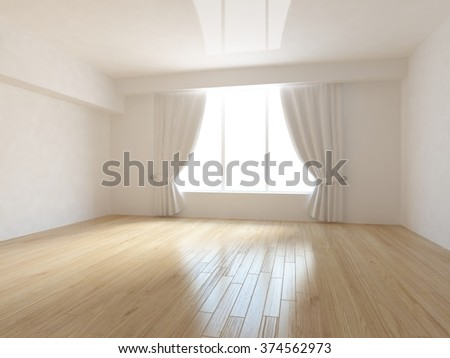 white empty room. 3d interior - stock photo