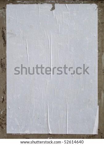 white empty street poster - stock photo