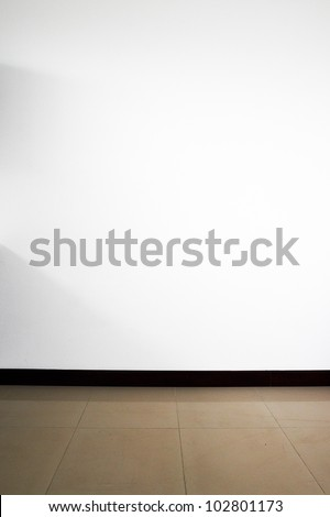 White empty wall background - stock photo