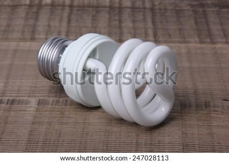 White Energy Saving Lamp - stock photo