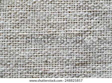 White Fabric Texture close up - stock photo
