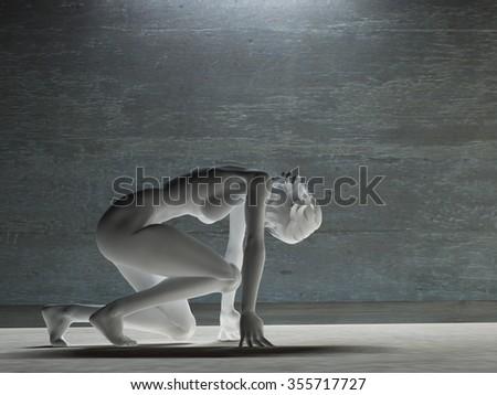 White female figure - stock photo