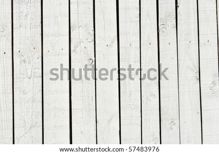 White fence background - stock photo