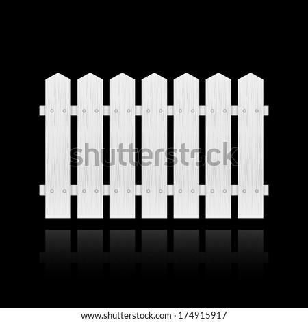 White fence tile isolated  illustration - stock photo