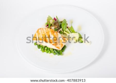 White fish fillet - stock photo