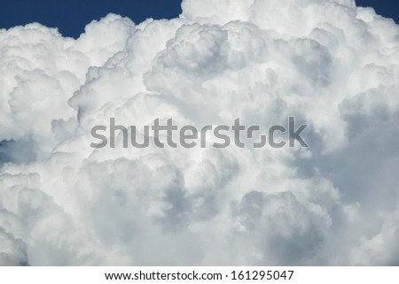 White fluffy clouds - stock photo