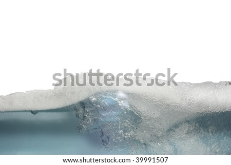 white foam afloat from bubbles - stock photo