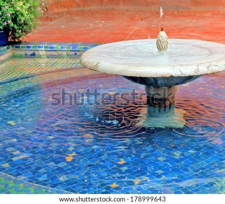white fountain - stock photo