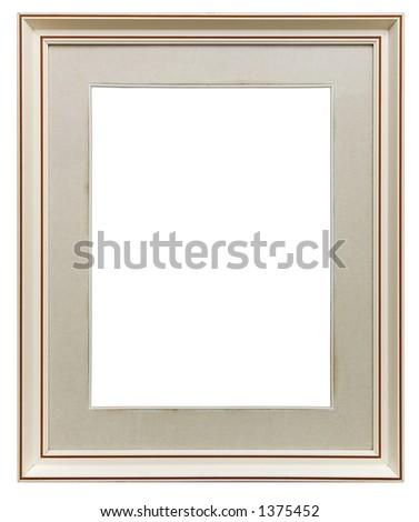 White frame isolated - stock photo