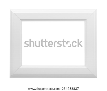 White frame on a white background - stock photo