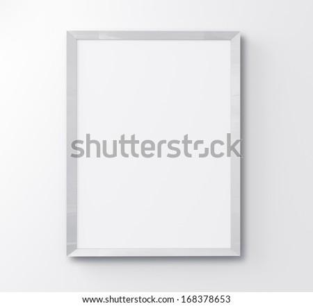 white frame on white background - stock photo