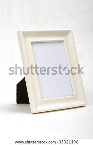 white frame white background - stock photo