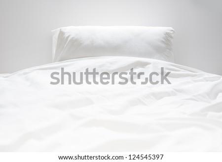 White fresh linen nobody - stock photo