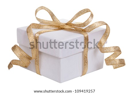 White gift boxes - stock photo