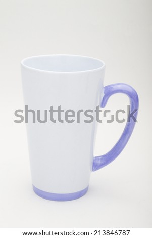 White glass with a handle - stock photo